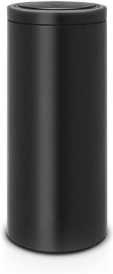 Brabantia Afvalemmer Touch Bin Flat Top.Brabantia Touch Bin Flat Top 30 L Matt Black