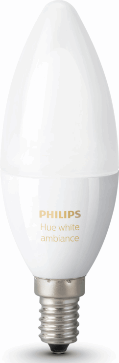Philips hue E14 bulb Warm to cool white light Single bulb E14