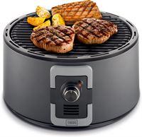 Trebs Houtskool barbecue draagbaar met draagtas 35 cm zwart 99338