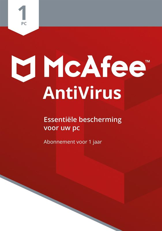 mcafee AntiVirus 2018 1 Device Dutch