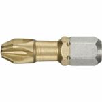 FACOM Bit 1/4 L25mm voor Phillips schroeven - titanium PH1