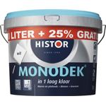 Histor Monodek muurverf wit 10 l + 25