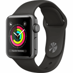 Apple Watch Series 3 - 38mm Spacegrijs Aluminium / Grijs Sportband