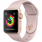 Apple Watch Series 3 - 38mm Goudkleurig Aluminium / Roze Sportband