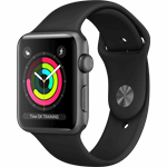 Apple Watch Series 3 - 42mm Spacegrijs Aluminium / Zwart Sportband