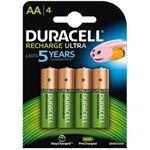 Duracell Batterij oplaadbaar 4xaa 2500mah ultra