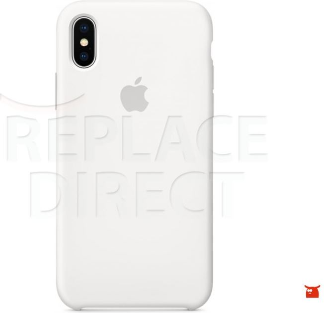 Apple Silicone Case White iPhone X