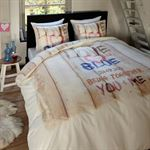 Dreamhouse Bedding Dekbedovertrek Love is blue 140x200 140x200