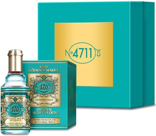 4711 eau de cologne spray 90 ml tissues geschenkset