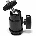 Cineroid Mini Balhoofd Metaal met Hot Shoe Adapter