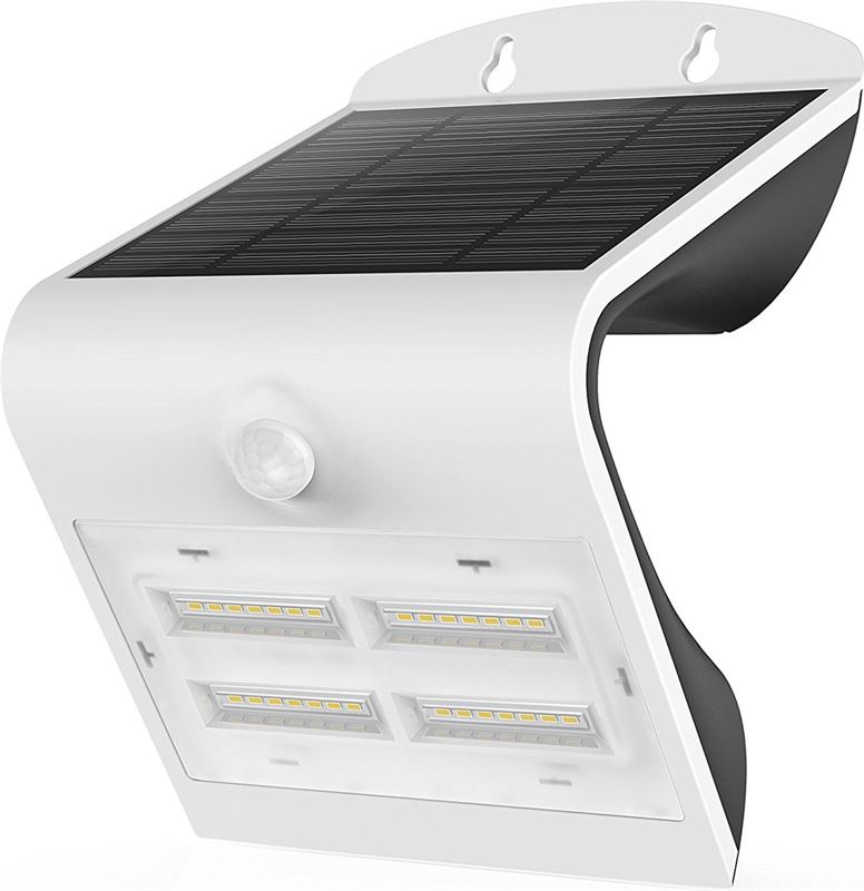leds light led wandlamp met zonnepaneel en sensor ip65 wit