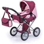 Blokker Bayer poppenwagen city star bordeauxroze 81 cm