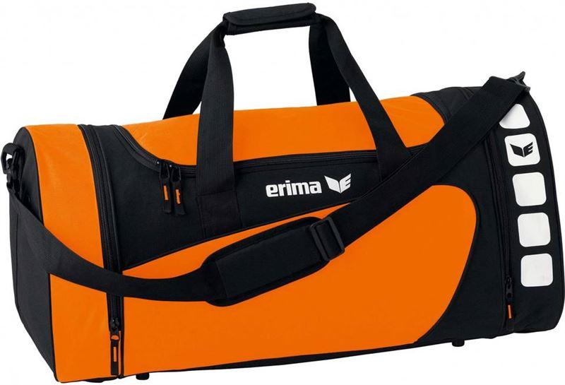 82f9a326a63 Erima sporttas club 5 line oranje/zwart 28 liter