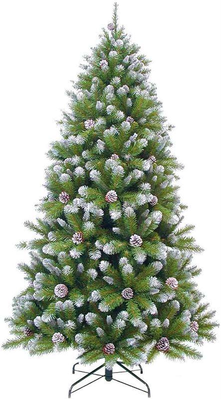 triumph tree kerstboom empress spruce met dennenappels maat in cm 215 x 119 besneeuwd