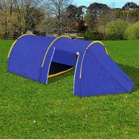 vidaXL Tent voor 4 personen marineblauw / geel