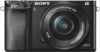 Sony A6000 zwart + 16-50mm Powerzoom + GRATIS Accu