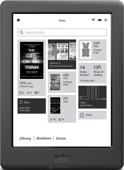 kobo glo hd zwart refurbished zwart