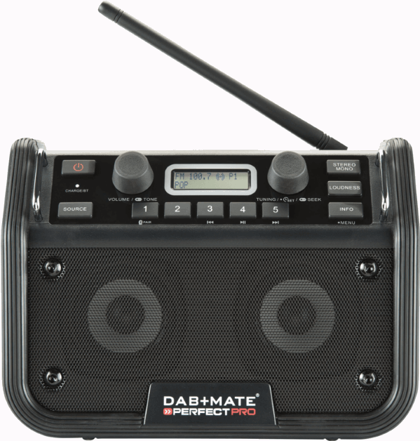 Perfectpro DMATE Digitale Bouwradio met Bluetooth
