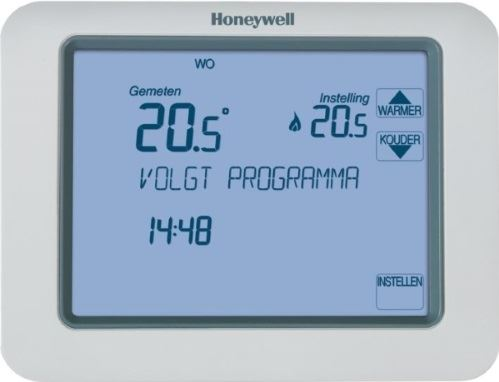 Honeywell Chronotherm Touch aan/uit
