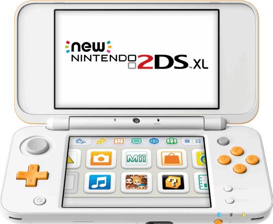 Nintendo New 2DS XL 4GB / wit, oranje