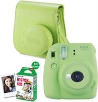 Fujifilm Instax Mini 9 (lime green) + enkelpak film 10 foto's + tas