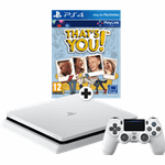Sony PlayStation 4 500GB Slim Glacier White + That's You (Voucher)