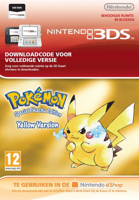Nintendo Pokémon Yellow Edition Virtual Console