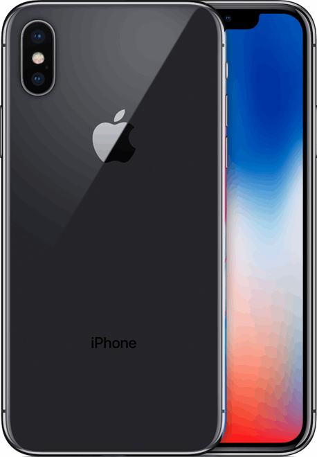 Apple iPhone X 256 GB / grijs