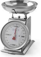 Hendi RVS Weegschaal met kom | max. 2 kg -| weergave per 10 g