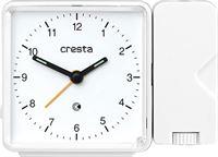 Cresta Projectiewekker analoog PRA 310 Wit wekker analoog klok
