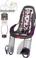 Qibbel ToGo - Fietsstoeltje Achter - Frame Bevestiging - antraciet/ Dots Purple