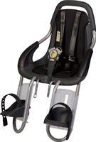 Qibbel ToGo - Fietsstoeltje Voor - Stuurpen bevestiging - antraciet/ Uni Black