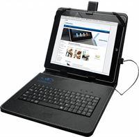 i12Cover Universeel 9,7 Inch Keyboard Case, Hoes met ingebouwd QWERTY toetsenbord, Zwart, merk Betaalbare universele keyboard case voor een 9.7 inch tablet. De cover is gemaakt van PU leer met ingebouwd toetsenbord