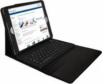 i12Cover Lederen Keyboard Case Apple iPad Air, Bluetooth QWERTY Toetsenbord Op maat gemaakte Keyboard Case voor de iPad Air. Het ingebouwde toetsenbord heeft een draadloze Bluetooth verbinding. De cover is gemaakt van hoogwaardig PU leer