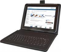 i12Cover Universele 10 inch Keyboard Case, zwart , merk Betaalbare universele 10 inch keyboard case geschikt voor een tablet. De cover is gemaakt van PU leer met ingebouwd QWERTY toetsenbord