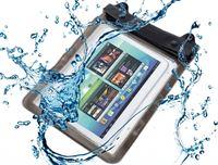 i12Cover Waterdichte tablet hoes met audio aansluiting, voor de beste bescherming op vakantie en werk, transparant , merk Deze waterdichte beschermhoes beschermt uw tablet tegen zand, water, stof en krassen (maximaal passend +/- 243 x 187 mm)