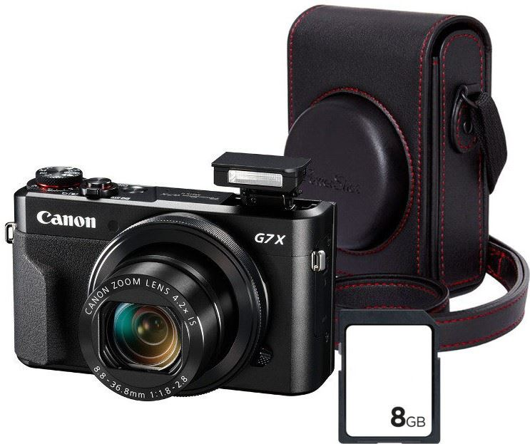 Canon PowerShot G7 X Mark II Premium Kit zwart