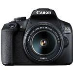Canon EOS 2000D BK 18-55 IS II EU26 zwart