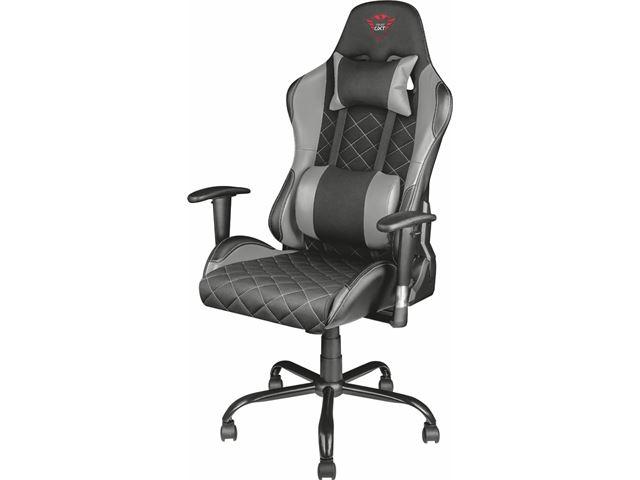 Trust gxt resto gaming stoel zwart grijs kopen