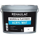 Renaulac muurverf latex acryl mat 5 L wit