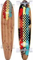 Nijdam Pro-line Longboard 42 Kicktail Bamboo - Rasta Revolution - Rood/Geel/Groen