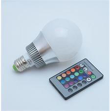 disqounts led verlichting rgb led lamp dimbaar 16 kleuren 5w