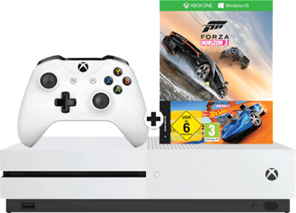 Microsoft Xbox One S 500GB + Forza Horizon 3 & Hot Wheels wit