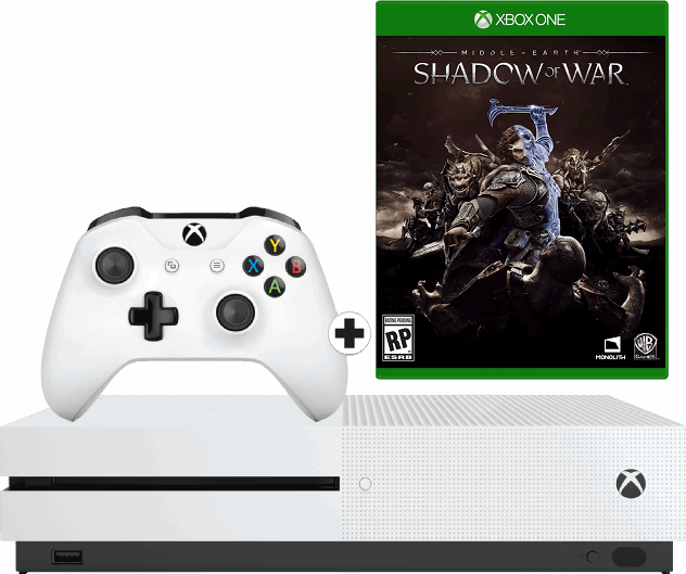 Microsoft Xbox One S 1TB / wit / Middle-earth: Shadow of War