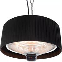 Sunred Hangende terrasverwarmer Artix 1500 W halogeen zwart ARTIX C-HB