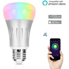 WIFI Smart LED lamp - E27 - iPhone of Android app werkt met GOOGLE ...