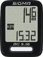Sigma BC 5.16 draadloze fietscomputer zwart