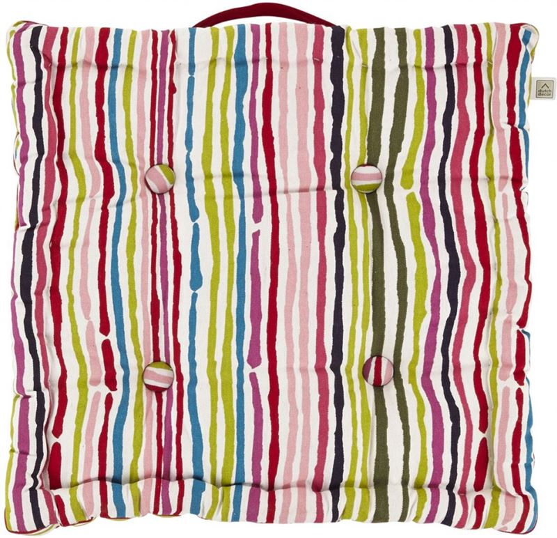 Dutch Decor Boxkussen Timeo 43x43x8 Cm Multi