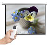 vidaXL Projectiescherm met afstandsbediening elektrisch 160x123 cm 4:3