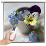 vidaXL Projectiescherm met afstandsbediening elektrisch 200x200 cm 1:1
